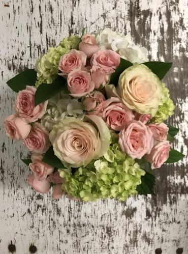 Rustic Blush Centerpiece