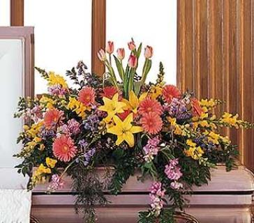 Springtime Splendor Casket Spray