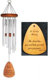 "The Lord Bless You Wind Chime 24"" Silver"