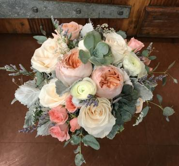 Peachy Keen Bridal Bouquet