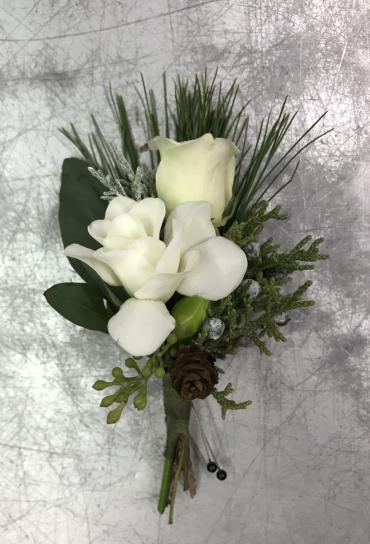 Winter Wonderful Boutonniere