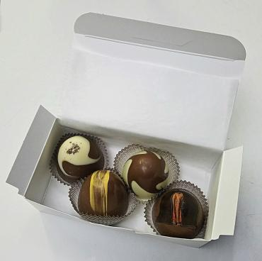 Box of gourmet truffles