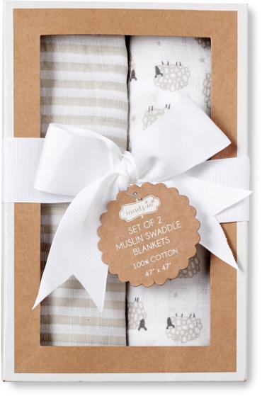 Sheep Swaddle Blankets by Mudpie