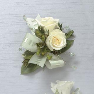 13. White Rose Corsage