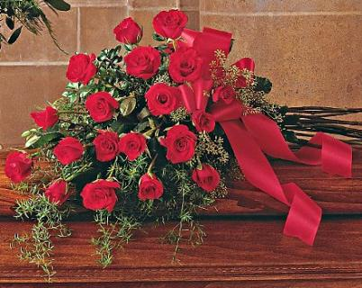 Resplendent Rose Bouquet Casket Spray