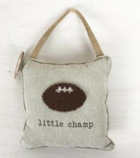 Door Knob Pillow ~ Little Champ
