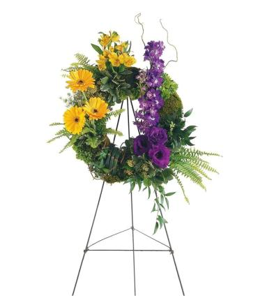 Summer Joy Standing Wreath