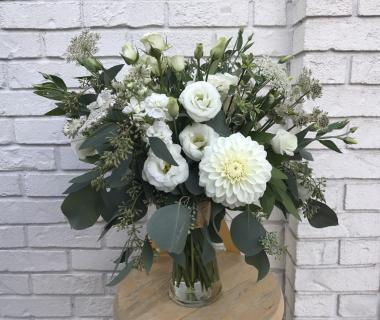 White Garden Gathering Bridal Bouquet