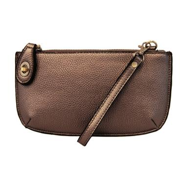 Wristlet Clutch ~ Metallic Brown