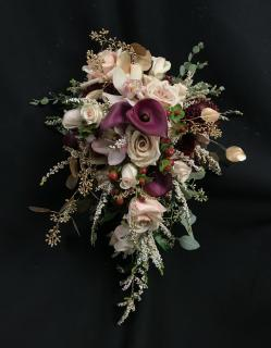Romantic Elegance Cascading Bridal Bouquet