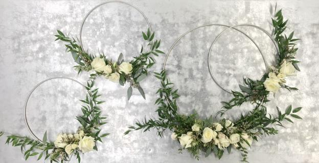 Bridal Party Floral Hoops