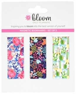 Floral Magnetic Bookmarks