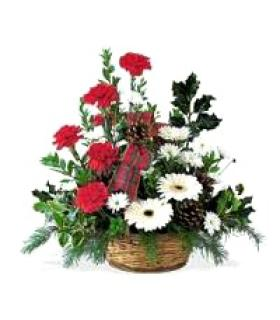 Carnation and Gerbera Basket