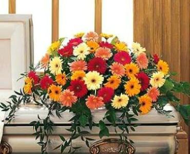 Uplifting Gerbera Casket Spray