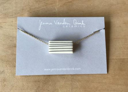 Necklace ~ Pinstripe Porcelain