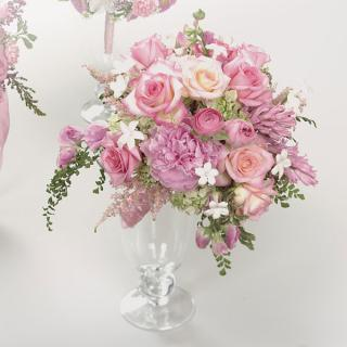 32. Pink Rose, Stephanotis and Hyacinth Bouquet