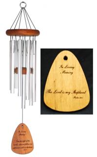 "The Lord is my Shepherd Wind Chime 24"" Silver"