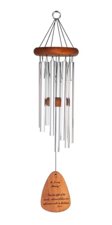 "What We Have Once Enjoyed.. Wind Chime 24"" Silver"