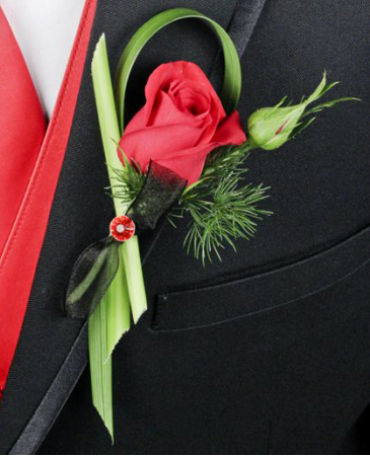 Putting On The Ritz Boutonniere