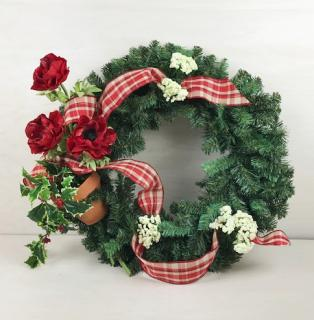 Garden Greetings Silk Christmas Wreath