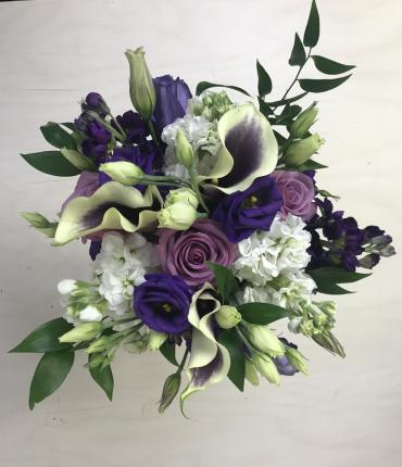 Pretty in Purple Bridesmaid\'s Bouquet