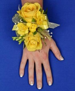 Glowing Yellow Corsage