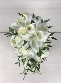 White Crescendo Bridal Bouquet