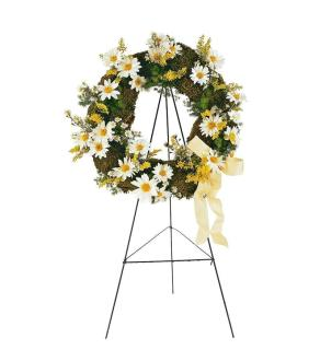 Daisy Glory Standing Wreath