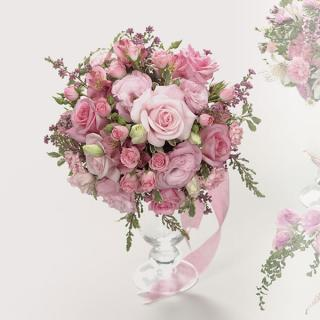 20. Pink Rose Bouquet
