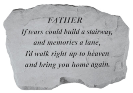 Father, If tears could build...