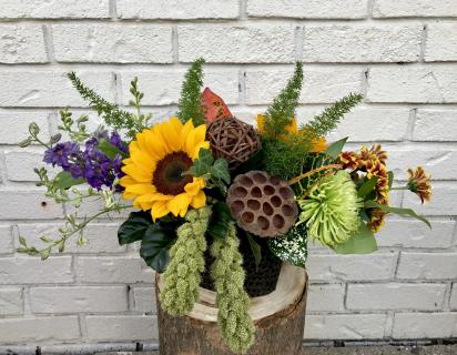 Artistic Autumn Centerpiece