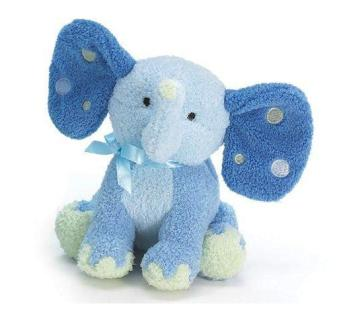Plush Blue Elephant Rattle