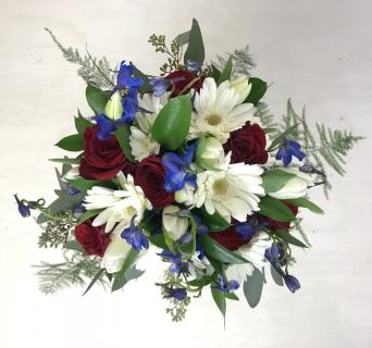 Patriotic Bridal Bouquet