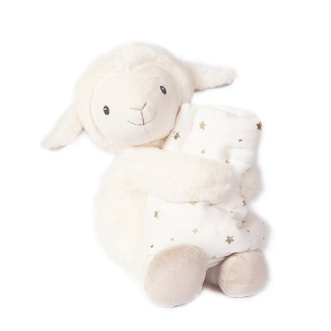 Lamb Plush And Muslin Blanket