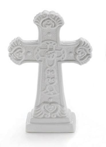 Ceramic White Cross