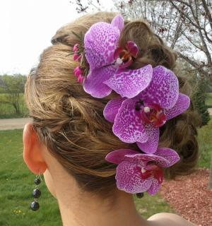 Orchid Floral Clips
