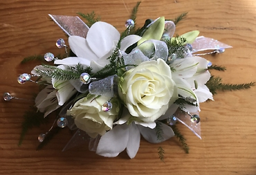 Graceful White Corsage