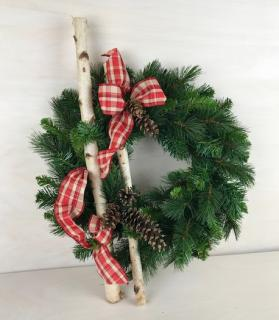 Wintertime Silk Christmas Wreath