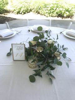 Custom Eucalyptus Table Decor