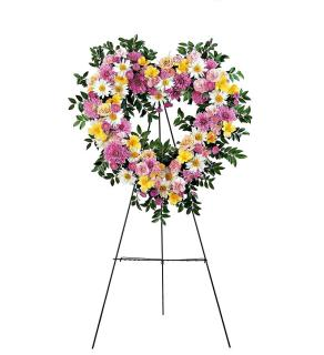 Springtime Love Standing Wreath