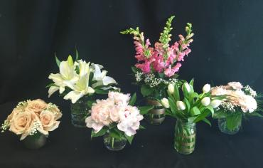 Bridal Party Posy Centerpieces