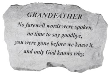 Grandfather, No farewell words...