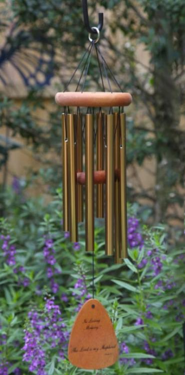 "The Lord Bless You.. Wind Chime 24"" Bronze"