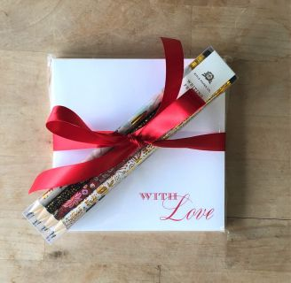 "Notepad & Pencil Set - ""With Love\"""