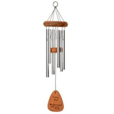 "The Lord bless you Wind Chime 30"" Silver"