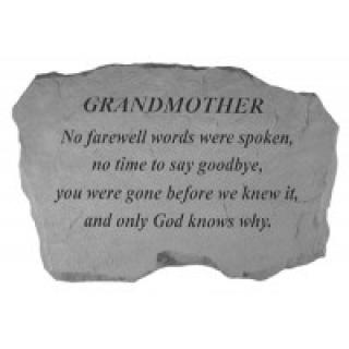 Grandmother, No farewell words...