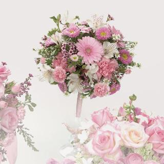 22. Pink Gerbera Daisy and Carnation Bouquet
