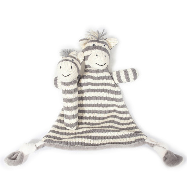 Zebra Rattle and Blanket